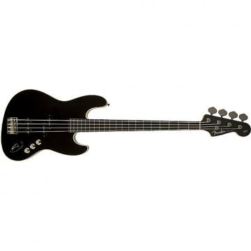 Custom Fender Aerodyne 4-String Jazz Electric Bass Guitar SS Rosewood Fingerboard Black