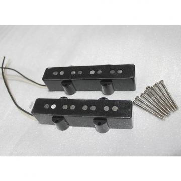 Custom Jazz Bass Alnico V Pickup Set Pair (Neck and Bridge)