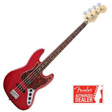 Custom FENDER Jazz Bass Deluxe Active , Rosewood Neck - Candy Apple Red | Basse FENDER Jazz Deluxe Active , Touche en Rosewood - Candy Apple Red