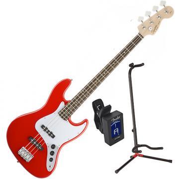 Custom Squier 031-0760-570 Affinity J Bass RW Jazz Bass Guitar Bundle
