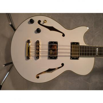 Custom D'Angelico EX Bass LH WH  2014 White