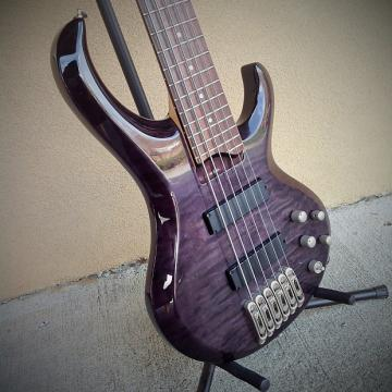 Custom Ibanez BTB406 6-String Electric Bass with Quilted Maple Top