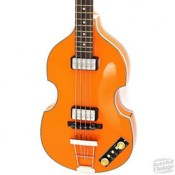 Custom Hofner 500/1 Gold Label Violin Bass Orange B-Stock