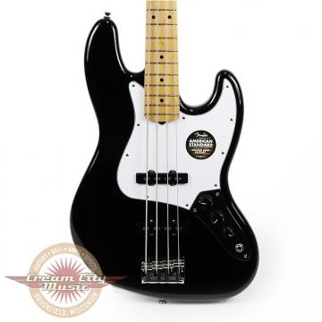 Custom Brand New Fender American Standard Jazz Bass Black with Maple Fretboard Demo