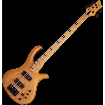 Custom Schecter Riot-5 Session Electric Bass in Aged Natural Gloss Finish