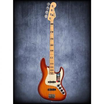 Custom Fender Amer Elite Jazz Bass Ash Tobacco Burst W/C