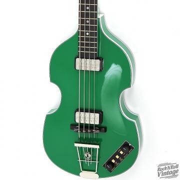 Custom Hofner 500/1 Gold Label Violin Bass Green