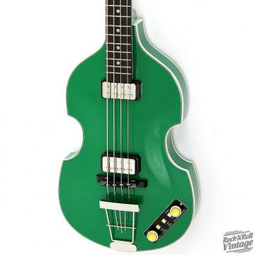 Custom Hofner 500/1 Gold Label Violin Bass Green B-Stock