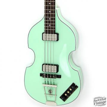 Custom Hofner 500/1 Gold Label Violin Bass Surf Green B-Stock