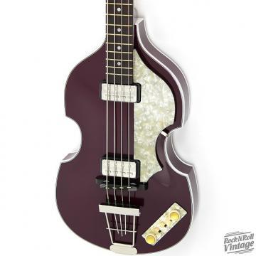 Custom Hofner 500/1 Gold Label Violin Bass Purple B-Stock