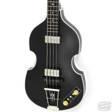 Custom Hofner 500/1 Gold Label Violin Bass Matte Black