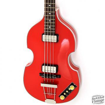 Custom Hofner 500/1 Gold Label Violin Bass Red B-Stock