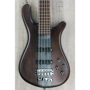 Custom Warwick German Pro Series Streamer Stage I Bass, 5-String, Nirvana Black, Active/Passive, Wenge