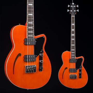 Custom Reverend Dub King Bass Rock Orange 6945