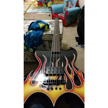 Custom Brownsville Bat bass  1982 Black with flame top