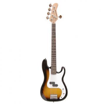 Custom Crestwood Precision 5-String Bass Sunburst