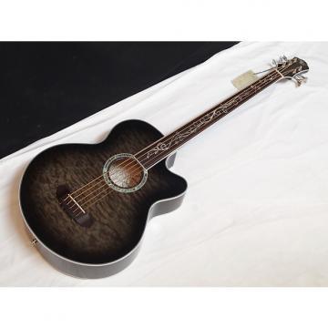 Custom MICHAEL KELLY Dragonfly 5-string FRETLESS acoustic BASS guitar NEW Smokeburst