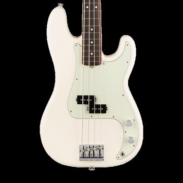 Custom Fender American Professional Precision Bass with Rosewood Fingerboard - Olympic White with Case