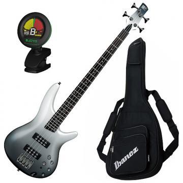 Custom Ibanez SR300E PFM 4-String Electric Bass Guitar Bundle