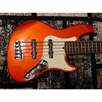 Custom Fender American Deluxe Jazz Bass V 2003 Candy Tangerine Metallic With Upgrades