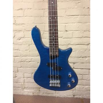 Custom Washburn T14Q Electric Bass Trans Blue Quilt