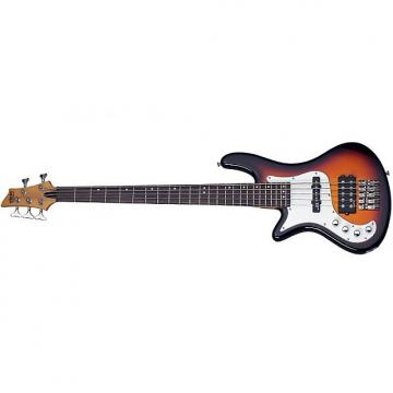 Custom Schecter Stiletto Vintage-5 Left-Handed Electric Bass 3-Tone Sunburst