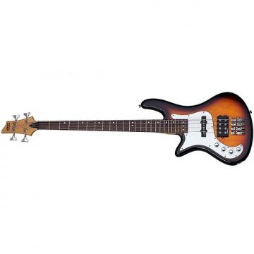Custom Schecter Stiletto Vintage-4 Left-Handed Electric Bass 3-Tone Sunburst