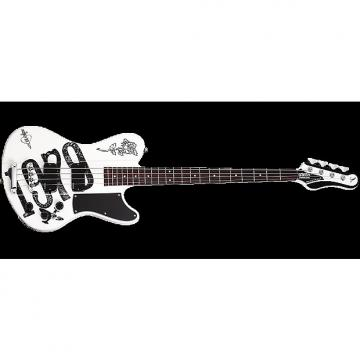 Custom Schecter Signature Simon Gallup Ultra Electric Bass in Gloss White Finish