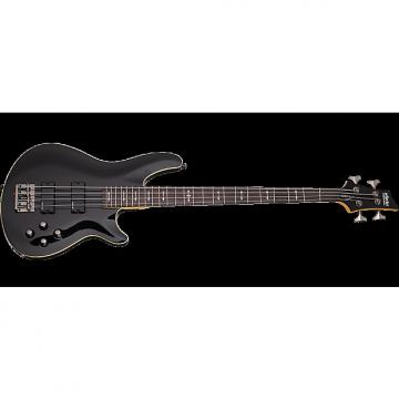 Custom Schecter Omen-4 Electric Bass in Gloss Black Finish