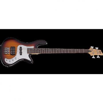 Custom Schecter Stiletto Vintage-4 Electric Bass 3-Tone Sunburst