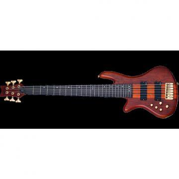 Custom Schecter Stiletto Studio-6 Left-Handed Electric Bass Honey Satin