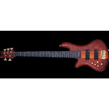 Custom Schecter Stiletto Studio-5 Left-Handed Electric Bass in Honey Satin