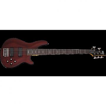 Custom Schecter Omen-5 Electric Bass in Walnut Satin Finish
