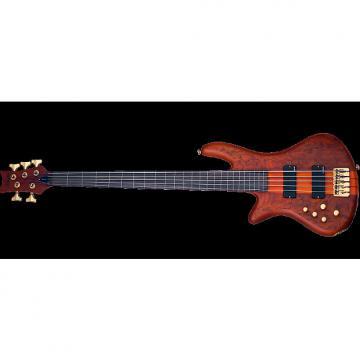 Custom Schecter Stiletto Studio-5 FL Left-Handed Electric Bass Honey Satin