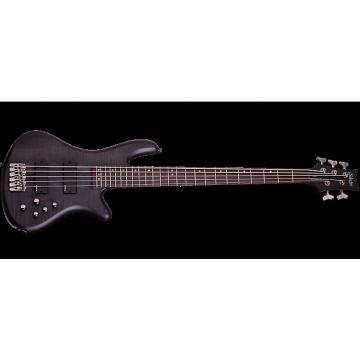 Custom Schecter Stiletto Studio-5 Electric Bass See-Thru Black Satin