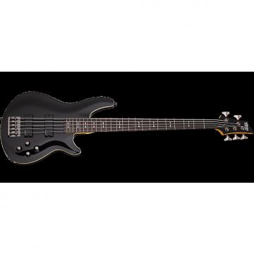Custom Schecter Omen-5 Electric Bass in Gloss Black Finish