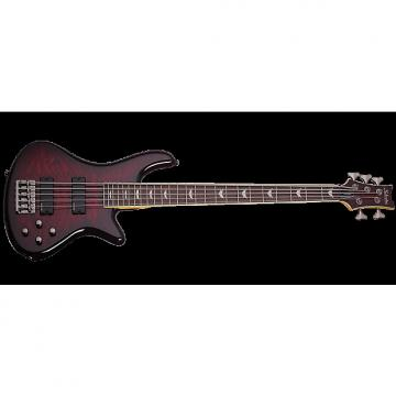 Custom Schecter Stiletto Extreme-5 Electric Bass Black Cherry