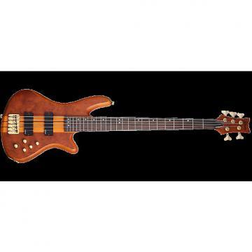 Custom Schecter Stiletto Studio-5 Electric Bass Honey Satin
