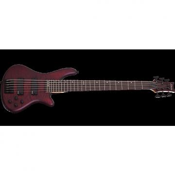 Custom Schecter Stiletto Custom-6 Electric Bass Vampyre Red Satin