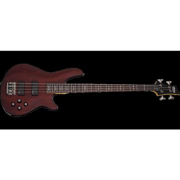 Custom Schecter Omen-4 Electric Bass in Walnut Satin Finish