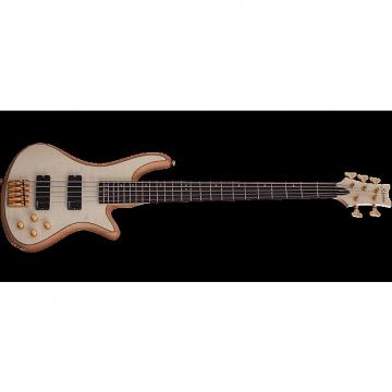 Custom Schecter Stiletto Custom-5 Electric Bass Gloss Natural