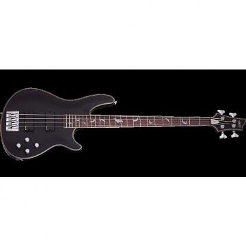 Custom Schecter Damien Platinum-4 Electric Bass Satin Black