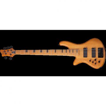 Custom Schecter Session Stiletto-5 Left-Handed Electric Bass in Aged Natural