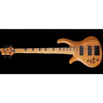 Custom Schecter Session Riot-5 Left-Handed Electric Bass in Aged Natural Finish