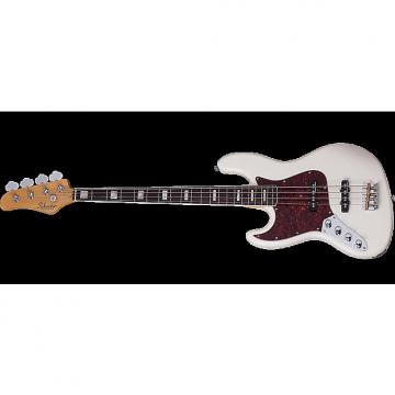 Custom Schecter Diamond-J Plus Left-Handed Electric Bass in Ivory Finish