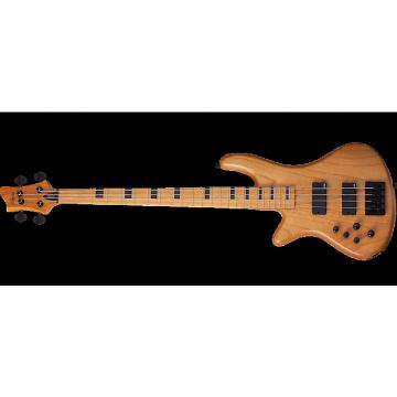 Custom Schecter Session Stiletto-4 Left-Handed Electric Bass in Aged Natural Finish