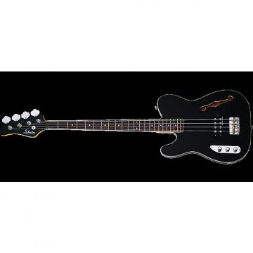 Custom Schecter Baron-H Vintage Left-Handed Electric Bass Gloss Black