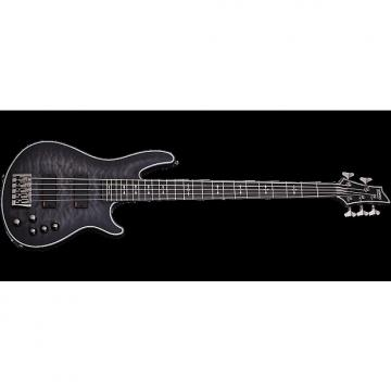 Custom Schecter Hellraiser Extreme-5 Electric Bass See-Thru Black Satin