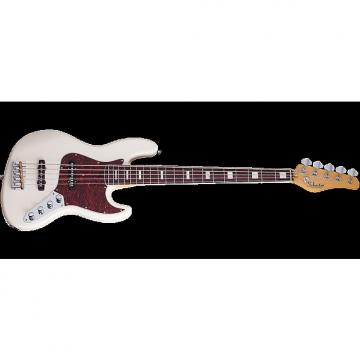 Custom Schecter Diamond-J 5 Plus Electric Bass in Ivory Finish