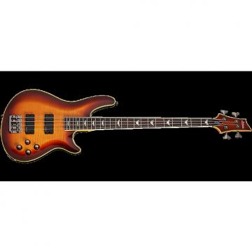 Custom Schecter Omen Extreme-4 Electric Bass in Vintage Sunburst Finish